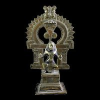 Rare South Indian Hindu seated bronze figure of Deity, 18th. century