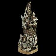 A fantastic Sawankhalok finial of mythical serpent (Naga)!