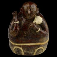 Thai, Sawankhalok pottery 'Hunchback' Water Dropper or Incense Holder, 15th-16th cent.