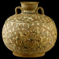 Stoneware Vase from Thailand Sukhothai kingdom, 1238-1438 AD.