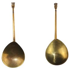 English Seal top bronze or Latten spoon, early 17th. century!