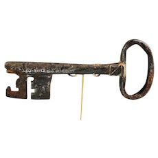 A massive rare Early European Renaissance Gate Key - rare!