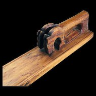 A North European Double Horse handle Mangle Board, 1800-1850