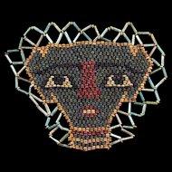 Wonderful ancient Egyptian Mummy Bead mask, late period 600 BC