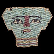 Elegant ancient Egyptian Mummy Bead mask, late period 600 BC