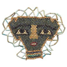 Choice ancient Egyptian Mummy Bead mask, late period 600 BC