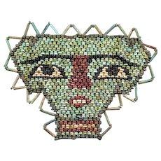 Beautiful ancient Egyptian Mummy Bead mask, late period 600 BC