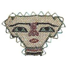 Very large Egyptian Mummy Bead mask, late period 600 BC