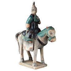 Chinese Ming Dynasty pottery female rider / attendant!