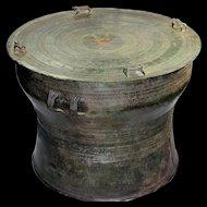 Superb bronze rain drum, Buma/Thailand Karen Tribe, 16th. cent!