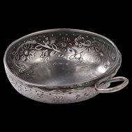 Beautiful antique French Silver Winetaster, 19th. century!