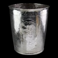 Spectacular North European Baroque Silver Beaker, dated 1701!