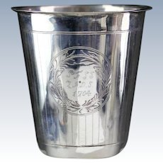 Exceptional and large European Silver Beaker or Cup dated 1704!