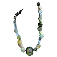 Nice collection of Roman Glass Mosaic Beads as a bracelet!
