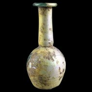 Superb large Roman Glass bottle w fine irridescence!