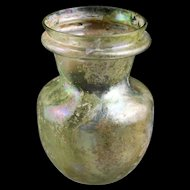Stunning large Roman glass vase or jar, 1st.-3rd. centy AD