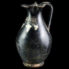 Greek pottery Gnathian-ware trefoil oinochoe, 4th. cent. BC