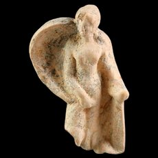 Attractive mounted Greek Hellenistic terracotta figure of Aphrodites