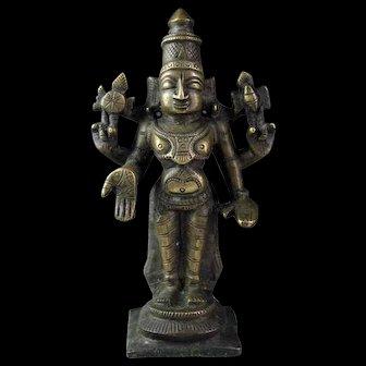 Nice old India, Hindu bronze or brass figure of Vishnu!
