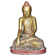 Early and massive Mandalay bronze Buddha, Burma 18th.-19th. century!