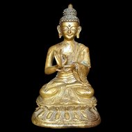 Fine Chinese bronze figure of Buddha, Early Qing Dynasty!