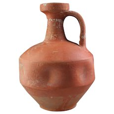 Choice Roman Terra sigillate pitcher w indentations. 2nd - 3rd cent.