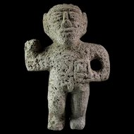 Massive Pre-Columbian Lava Stone figure of a Warrior 800-1300 AD