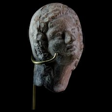 Hellenistic Greek pottery head, ca. 3rd.-2nd. century BC