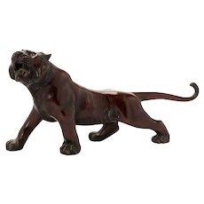 Superb Quality large inscribed Japanese bronze Meiji Tiger