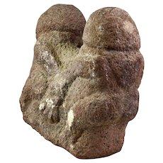Rare ancient Indonesian erotic stone sculpture, pre 8th. century AD