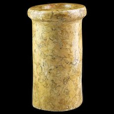 Museum Quality Large Egyptian follisiferous Limestone Jar!