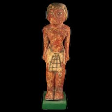 Large Egyptian wooden figure of a standing male, #2, 2030-1640 BC