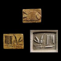 Exceptional Egyptian steatite amulet of a Fish, New Kingdom!