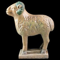 Rare Chinese Ming Dynasty Tomb Pottery figure of a sheep!