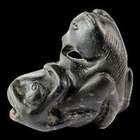 Rare Chinese Late Song Dynasty, Jade Horse & Monkey pendant!