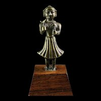 Rare Early India bronze figure of double female godess!