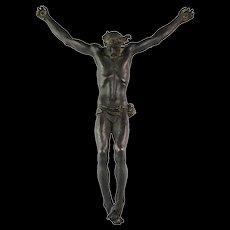 Impressive French bronze figure of Christ, 18th.-19th. century