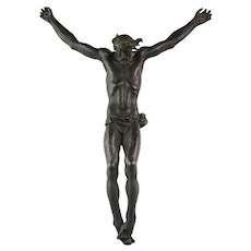 Impressive French bronze figure of Christ, 18th.-19th. century