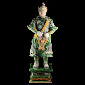 Museum Quality Ming Dynasty Tomb pottery warrior, 83 cm!