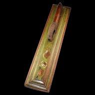 Beautiful Danish or Swedish Mangleboard with Archaic horse handle