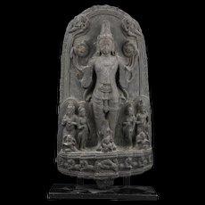 Blackstone stele of Surya, The Sun God, Pala period, 10th-11th cent.