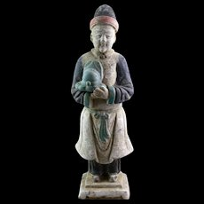 High Quality Ming Dynaty pottery attendant, 1368-1644