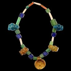 Nice Glass Bracelet with Roman Glass Hangers, 1st.-3rd. cent. AD