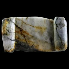 Fine veined Chinese Jade carving Wrist rest, Qing Dynasty