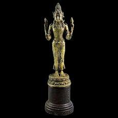 Gilt bronze figure of Hindu god Vishnu, Java, 8th.-9th. cent. AD