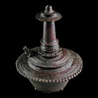 A splendid Majapahit bronze Kendi vessel, Java, 13th.-14th. cent. AD