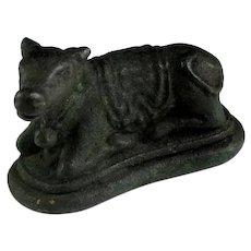 Hindu bronze figurine of the Nandi Bull, Majapahit, 12th-14h.cent!