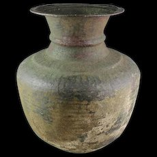 Massive Sassanian - Islamic bronze or cobber vessel, 6th-9th. cent.