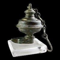 Rare Islamic or Hindu bronze Oil Lamp, 16th.-17th. century AD