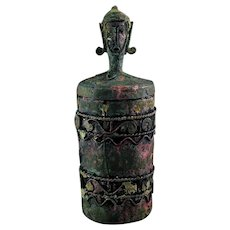 Rare Indonesian Dong Son Anthropomorphic bronze age vessel!